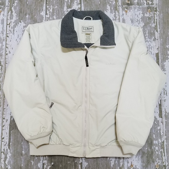 Ll Bean Warm Up Jacket Fleece Lined Size Large